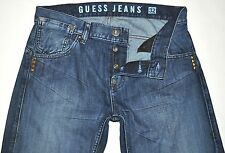 Guess Jeans Men's Straight Leg Jeans W/ Cool Back Pockets 32 X 33.5 AWESOME