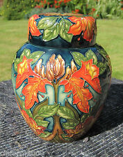 Rare Moorcroft Ginger Jar - 'Flame of the forest' Trial by Philip Gibson 1st Q.