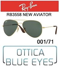 Occhiali da Sole RAYBAN 3558 001/71 Sunglasses NEW AVIATOR Ray Ban GOLD CLASSIC