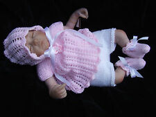 KNITTING  PATTERN for doll / reborn angel set / Jump suit to fit 12 / 16 in dk