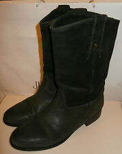 JIMMY CHOO 132 HUDSON SMOKE GREY SUEDE LEATHER MID CALF BIKER BOOTS SHOES 41 8