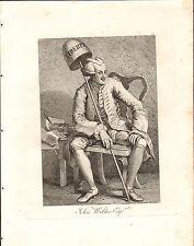 1818 Grabado Cobre Hogarth georgiano ~ John Wilkes Esq