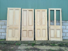 Reclaimed Victorian four panel solid wood doors