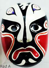 Traditional Chinese Beijing Opera Theater Hand Painted Facial Mask MakeupFeather