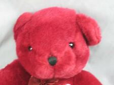 JANUARY RUBY RED PINK HEART TEDDY BEAR  SITS DOWN PLUSH STUFFED ANIMAL TOY