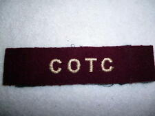 Canadian Officers Training Corps (COTC) Cloth Shoulder Title - Canada WW2