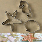 3pcs Seahorse Starfish Shell Cookie Cake Cutter Mold Biscuit Pastry Baking Mould