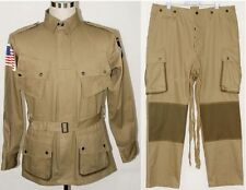 WWII US M42 AIRBORNE JUMPSUIT JACKET TROUSERS SET MILITARY UNIFORMS M
