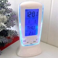 Digital Backlight LED Display Table Alarm Clock Snooze Thermometer Calendar