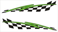 2x Ex Large Flash chequered flag vinyl stickers graphics decals car lorry van