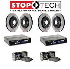 Chevrolet GMC Hummer Front Rear StopTech Slotted Brake Rotors Fleet Pads Set Kit
