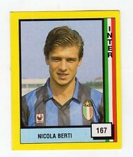 figurina - CALCIATORI VALLARDI 1990 NEW- NUMERO 167 INTER BERTI