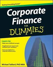 Corporate Finance for Dummies by Michael Taillard and Consumer Dummies Staff...
