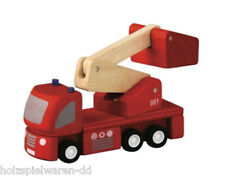 PlanToys 6234 Fire brigade with Turntable ladder for PlanCity Wooden railway