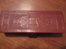 Vtg~Delco Radio Division~General Motors Corp~2 Decks Of Cards~Leather Case