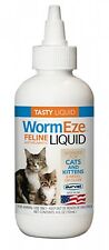 Cat Kitten 6 Weeks & Older  Feline WormEze Tasty Liquid Wormer Dewormer 4 oz