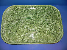 """Bordallo Pinheiro Embossed Ivy Leaves on Green Rectangle Tray 18"""" x 12"""""""