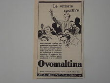 advertising Pubblicità 1940 OVOMALTINA WANDER