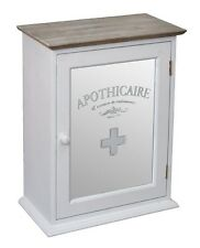 Vintage Mirrored Apothicaire Bathroom Cabinet Shabby Chic Distressed New
