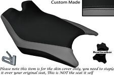 DESIGN 2 GREY & BLACK CUSTOM FITS KTM RC8 R 1190 FRONT LEATHER SEAT COVER