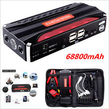 12V 68800mAh Portable Car Jump Starter Booster Battery Power Bank 4 USB Charger