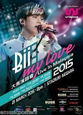 "Bii ""MY LOVE LIVE IN MALAYSIA 2015"" KUALA LUMPUR CONCERT TOUR POSTER - Pop Music"
