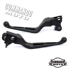 Matte Black 3 Slot Hand Brake Clutch Levers For Harley Davidson Dyna Rocker XL