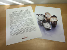 Press Release OMEGA - Omega De Ville Co-Axial 35 mm - Español Spanish