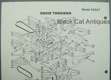"Vintage 1978 MTD 36"" Snow Thrower Attachment Illustrated Parts List Model 62527"