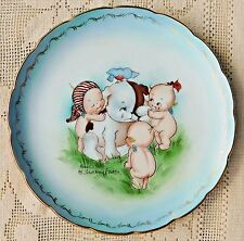 VINTAGE ADORABLE ROSE O'NEILL KEWPIE COLLECTOR PLATE - SIGNED BY FLORENCE BAKER