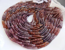 "6.5"" half strand MULTI RED SPINEL faceted gem stone rondelle beads 3.5mm - 4mm"