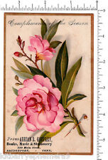 4052 Adrian S. Godfrey book, music, stationery store trade card Bridgeport, CT
