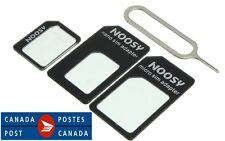 Noosy Black Nano Micro Mini Standard SIM Card Adapter Kit Set Adaptor Tools