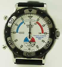 Vintage Seiko Yacht Timer Sports 150 Quartz Watch 8M35-800A