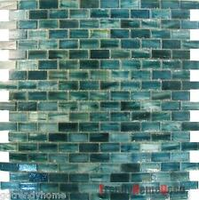 SAMPLE - Blue Recycle Glass Mosaic Tile backsplash Kitchen wall sink bath Wall