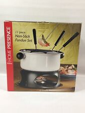 Trudeau 11 Piece NON-Stick Fondue Set w Recipe Booklet NIB - Chocolate Cheese