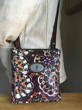 Fossil Small Coated Canvas Cross Body Style Bag W/ Silver Tone Hrdwr NWOT
