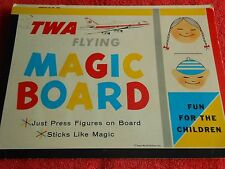 TWA MAGIC BOARD TRANS WORLD AIRLINES VINTAGE STICKS LIKE MAGIC