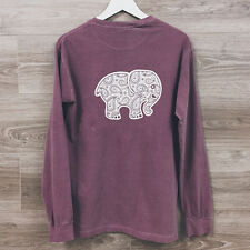 T-shirt Womens Elephant Printed Long Sleeve Sweatshirt Crew Neck Pullover Tops