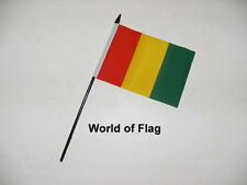 "GUINEA SMALL HAND WAVING FLAG 6"" x 4"" Guinean Africa Table Desk Crafts Display"