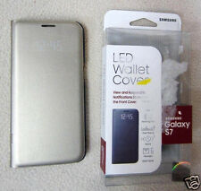 Samsung Galaxy S7 Case LED Wallet Cover Gold EF-NG930PFEGUS OPEN BOX