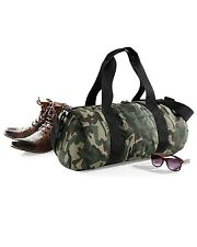 BagBase Camo Camouflage Army Design Barrel Duffel Gym Sport Bag Sack Travel Camp