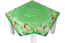 Tischdecke 85x85 cm hellgrün SCHMETTERLINGE Blumen bunt Mitteldecke Sommerdecke