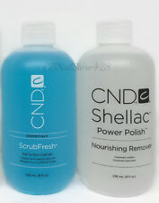 Cnd Shellac 2pcs set -  ScrubFresh & Nourishing Remover 8oz