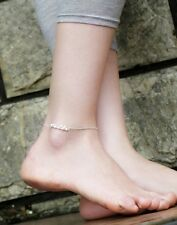 USA - Lady Silver Bead Chain Anklet Bracelet Foot Jewelry Barefoot Sandal Beach