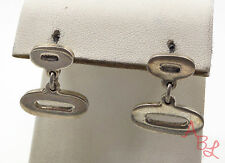 Sterling Silver Vintage 925 Dangle Double Oval Stud Earrings (7.9g) - 554290
