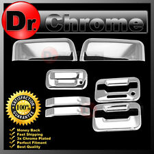 04-08 Ford F150 Chrome HALF Mirror+2 Door Handle+keypad+no PSG KH+Tailgate Cover