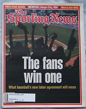 Baseball New Labor Agreement  12/9/96 1996 Sporting News AAA19