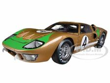 1966 FORD GT-40 MK 2 GOLD #4 DIECAST CAR MODEL 1/18 SHELBY COLLECTIBLES SC414
