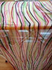 STRIPEY PRINT SHEER CRINKLE PURE SILK  DRESS FABRIC